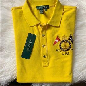 Lauren Ralph Lauren yellow polo shirt size medium